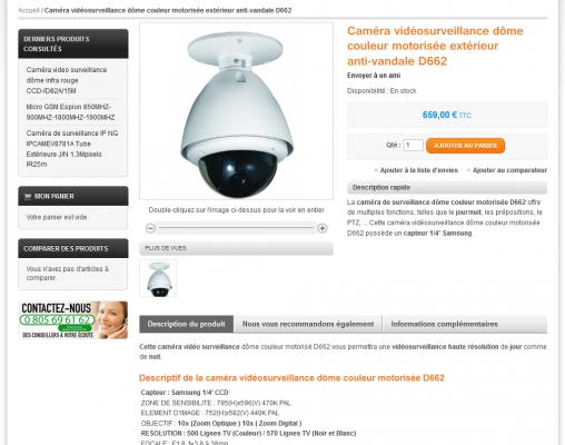 image page produit videosurveillance-boutique.fr